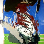 Oel auf Büttenpapier, 80x120cm, 1996