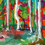 Malerei 1984 - 1996 farbige Tusche auf Büttenpapier 60 x 80 cm